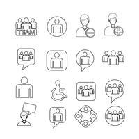jeu d'icônes de personnes Illustration