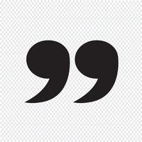 Icône de signe Blockquote Illustration