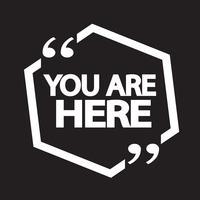 Vous êtes ici icon vecteur