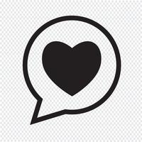 Icône de bulle de coeur vecteur