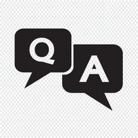 Icône de réponse à la question vecteur