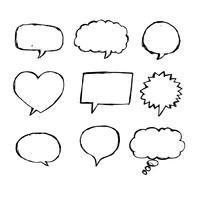 Speech Bubble Sketch dessiné à la main vecteur