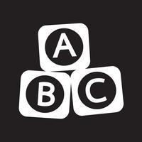 Icône de bloc de brique jouet ABC bébé