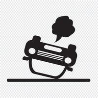 icône d'accident de voiture