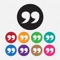 Icône de signe Blockquote Illustration vecteur