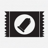 Signe de protection icône paquet de préservatif vecteur