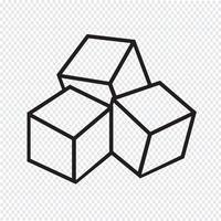 Icône de cubes de sucre vecteur