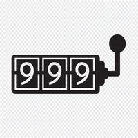 Icône de la machine à sous vecteur