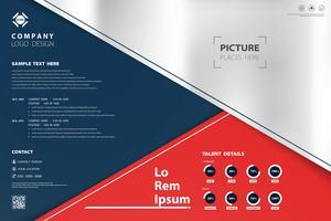 Modèle de couleurs abstrait design moderne des affaires géométrique. Vous pouvez utiliser pour la présentation, annonce, affiche, rapport annuel, impression. vecteur