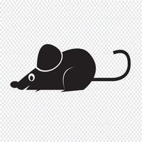 icône de rat de souris vecteur