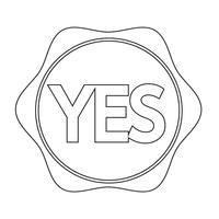 Icône du bouton Oui vecteur