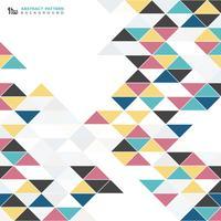 Modèle de conception abstrait triangle coloré moderne. Vous pouvez utiliser pour la couverture de vieux éléments antiques, couverture, impression, publicité