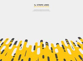 Conception moderne du motif de ligne abstraite bande noire jaune de fond de maille. Vous pouvez utiliser pour une annonce, une affiche, une impression, un modèle, une brochure, un dépliant ou une illustration. vecteur