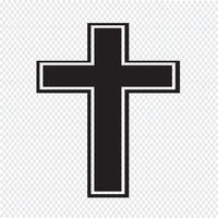 Icône de croix de religion vecteur