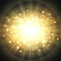 Effet abstrait doré lumière du soleil pour élément éclatant de soleil éclaté. illustration vectorielle eps10 vecteur