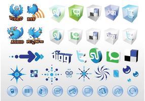 Vecteurs Web des médias sociaux
