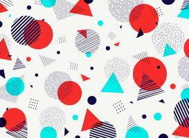 Couleurs abstraites géométriques orange, violet, bleu, ciel, modèle, décoration moderne. Vous pouvez utiliser pour la conception d'illustrations, une annonce, une affiche, une brochure, un rapport de couverture. vecteur