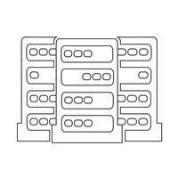 Icône du serveur informatique vecteur