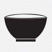 signe de symbole icône bol vecteur