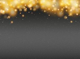 Élément de décoration abstrait de paillettes d'or. illustration vectorielle eps10