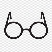 Lunettes symbole signe vecteur