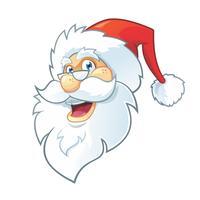 Tête de bande dessinée du père Noël vecteur