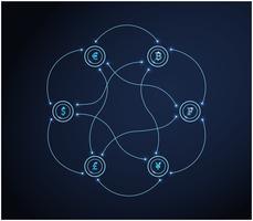 Jeu de symboles de devise. Concept d'entreprise finance. Vecteur