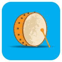 Icône d'application tambour Ramadan vecteur