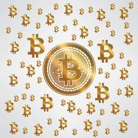 Motif Bitcoin Or Jaune vecteur