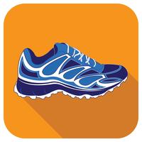 Icône de vecteur de chaussure de sport