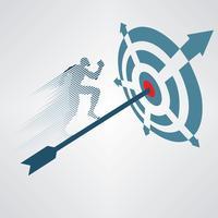 Illustration vectorielle cible financière vecteur
