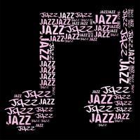 Illustration vectorielle de musique jazz mot nuage vecteur