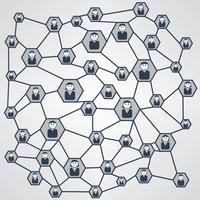 Illustration vectorielle de réseau d'affaires