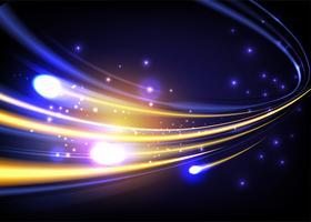 Vitesse de la lumière abstraite en vecteur