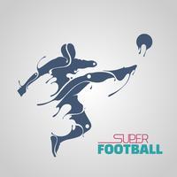 splash robotique de super football vecteur