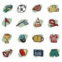 icône abstraite de football vecteur