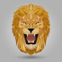 tête de lion géométrique vecteur