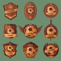 Emblèmes de ballon de football vecteur