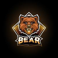 Logo emblème d'ours