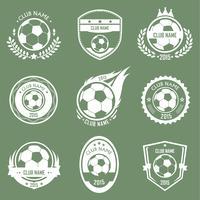 Logo emblèmes de football vecteur