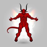 pouvoir diable rouge vecteur