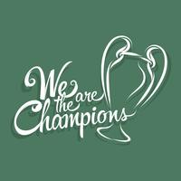 Nous sommes les champions vecteur
