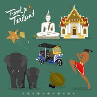 Symbole de voyage en Thaïlande vecteur