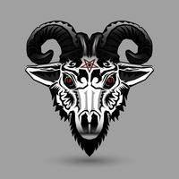 Tête de chèvre démon