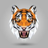tête de tigre géométrique vecteur