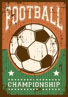Soccer Football Sport Retro Pop Art Affiche Signalisation