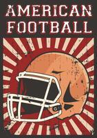 Football américain Rugby Sport Affiche Pop Art Rétro vecteur