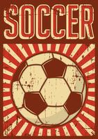 Soccer Football Sport Retro Pop Art Affiche Signalisation