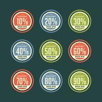 Insigne de remise rétro vente vecteur de promotion de vente