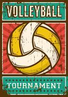 Volley-Ball Volley-ball Sport Rétro Pop Art Affiche Signalisation vecteur